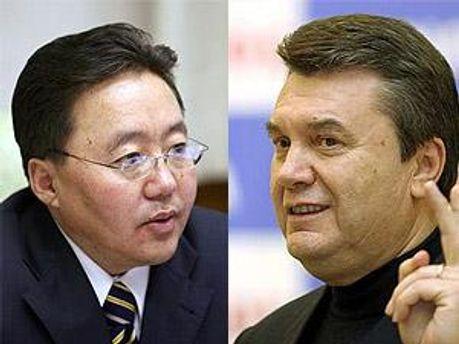 Янукович встретиться с Элбэгдоржем