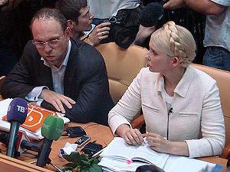Тимошенко отделили щитами