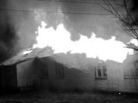 Огонь уничтожил 160 квадратных метров крыши