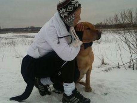 Юлія Тимошенко зі своїм собакою