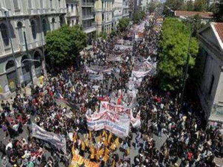 Страйки транспортників в Афінах