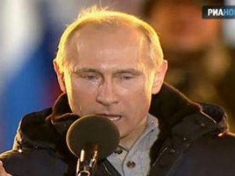 Володимир Путін плакав на Манежній площі