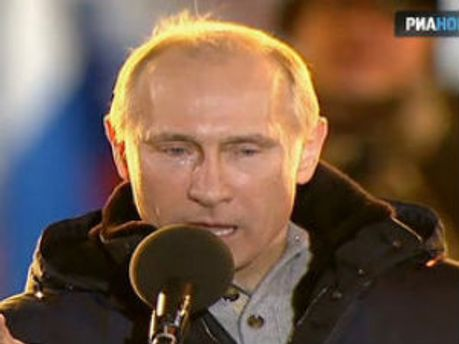 Владимир Путин плакал на Манежной площади