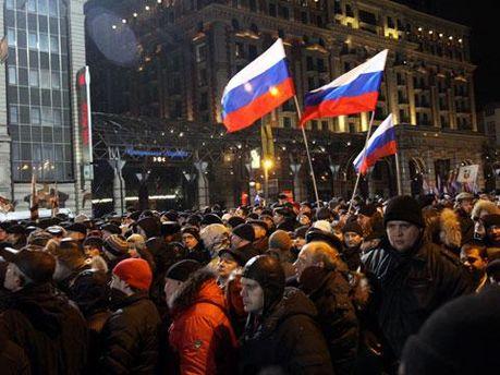 Акция в поддержку Путина завершилась, продолжаются акции протестов