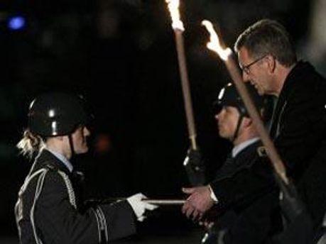 Церемония прощания Кристиана Вульфа с должностью