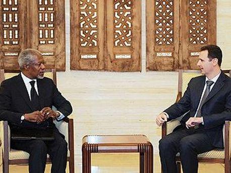 Кофи Аннан и Башар Асад