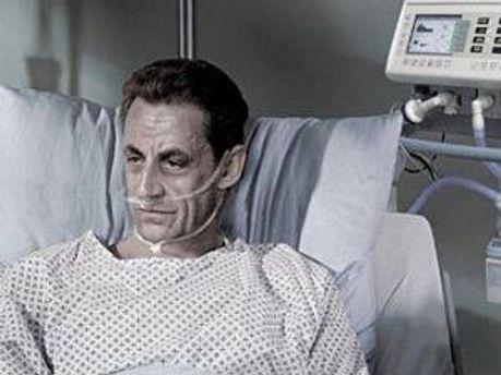 Николя Саркози на рекламном плакате Ассоциации за право умереть с достоинством