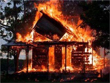 Пожар произошел из-за замыкания