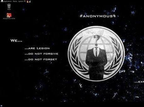 Нова операційна система оформлена символікою Anonymous