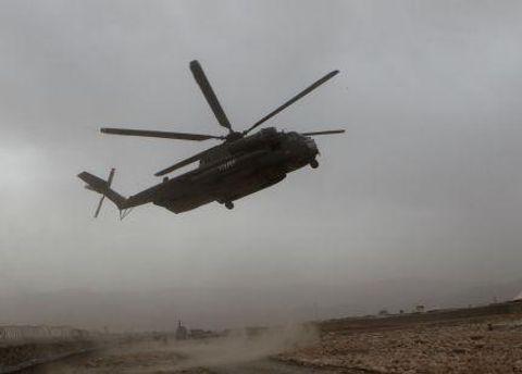 Вертолет миротворцев в Афганистане