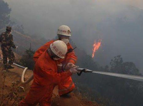 С огнем борются 2 200 спасателей