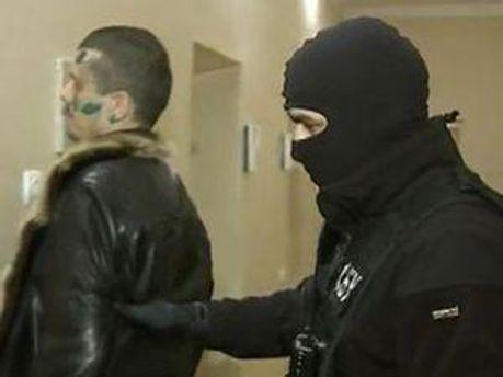 Підозрюваний у замаху в момент затримання