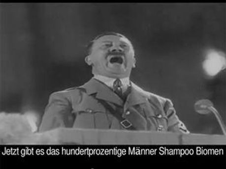 Реклама шампуню з Гітлером