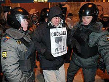 Затримали учасника акції 31 січня 2012 року