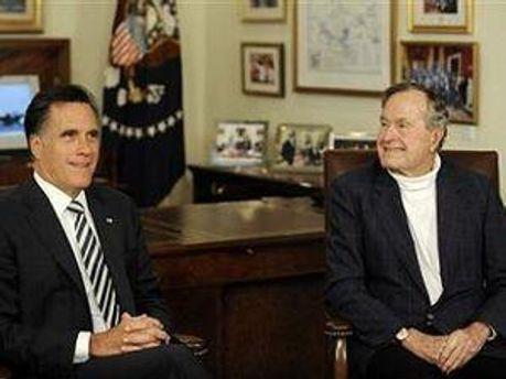 Джордж Буш-старший и Митт Ромни