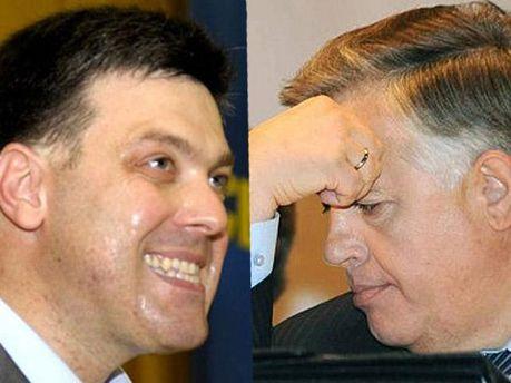 Олег Тягнибок та Петро Симоненко