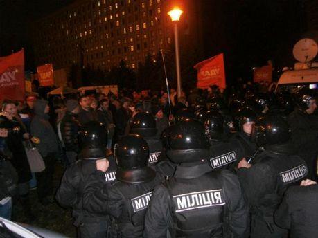 Акция протеста под ЦИК