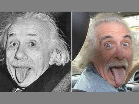 Альберт Эйнштейн и его двойник-таксист