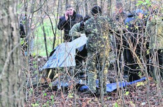 Правоохоронці біля знайденого тіла Мазурка