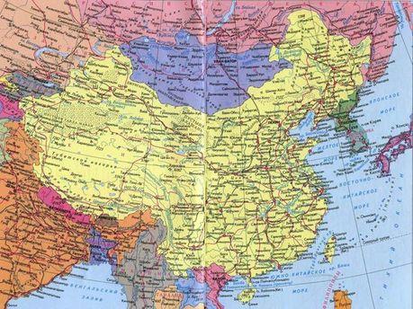 Карта Китаю