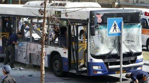 Последствия взрыва автобуса