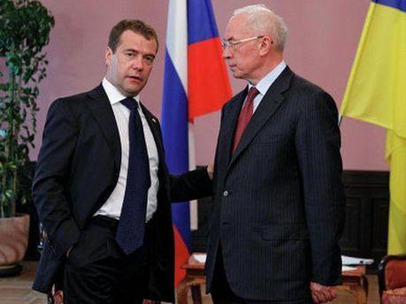 Микола Азаров і Дмитро Медведєв
