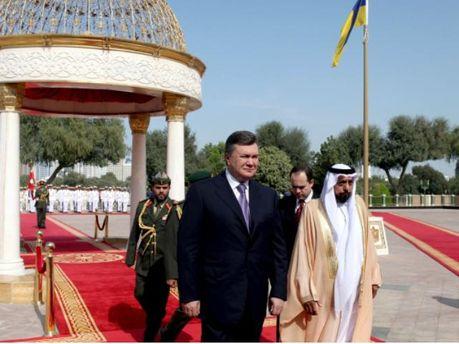 Віктор Янукович в ОАЕ