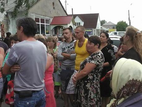 Протест возле Врадеевского суда