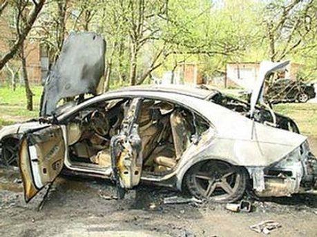 Mercedes с трупом