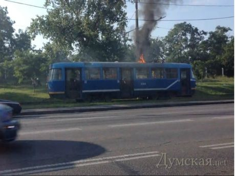 Палаючий трамвай