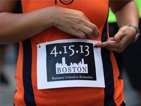 Плакат о теракте в Бостоне