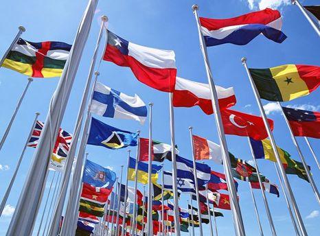 Прапори учасників Універсіади