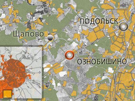 Карта Підмосков'я