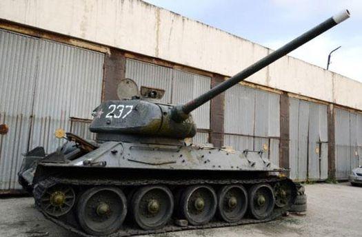 Танк, который отправили на ремонт