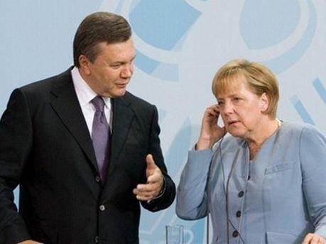Віктор Янукович та Ангела Меркель