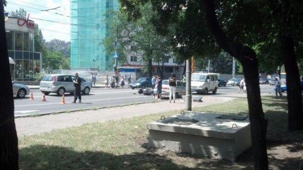 Место происшествия в Донецке