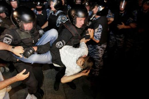 Розгін наметового містечка на Майдані в ніч на 19 липня