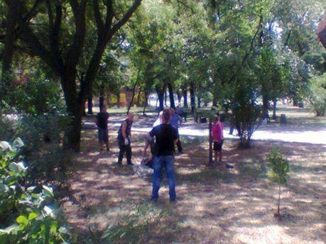 Инцидент в центре Запорожья