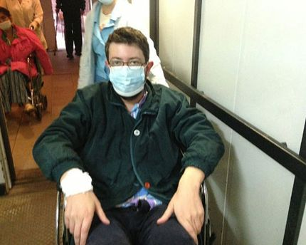 Артемій Лебєдєв у лікарні