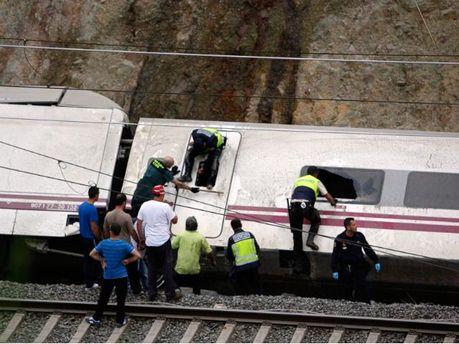 Аварія потяга в Іспанії