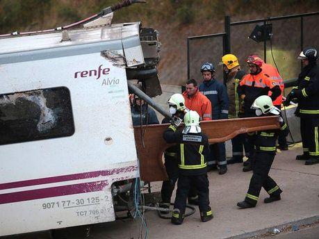 Авария на железной дороге в Испании