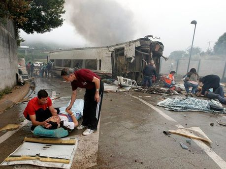 Аварія на залізниці в Іспанії