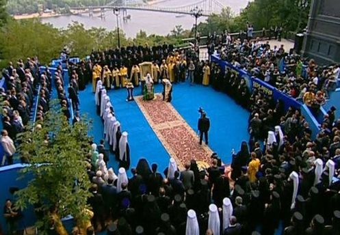 Главные торжества вчера проходили на Владимирской горке