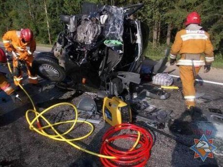 Аварія з українцями у Білорусі
