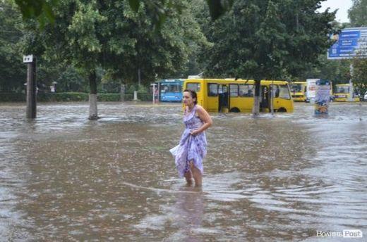 Затоплений Луцьк