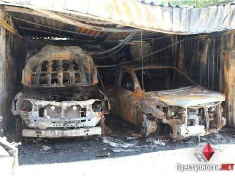 Спалили машини