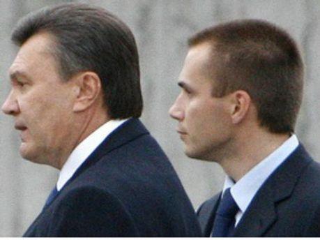 Виктор Янукович с сыном