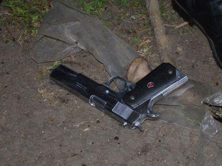 Оружие в палаточном городке сепаратистов