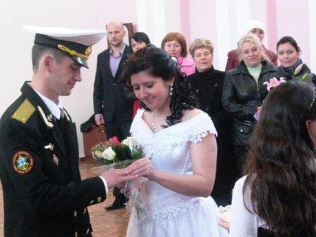 Свадьба военнослужащих