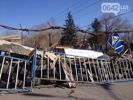 Барикади у Луганську